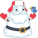 Santa snowman icon