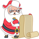 Santa wishlist icon