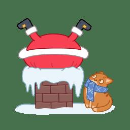 Santa chimney icon