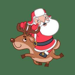Santa reindeer icon