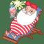 Santa relax summer icon