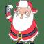 Santa selfie icon