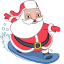 santa surfer icon