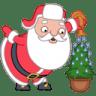 Santa-christmas-tree icon