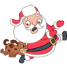 Santa-dog icon