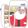 Santa-fridge icon
