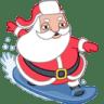 Santa-surfer icon