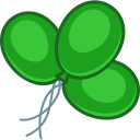 Balloons green icon