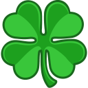 Shamrock lucky icon