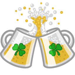 Beer clink cheers icon