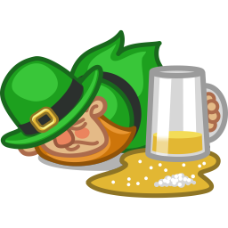 Leprechaun drunk icon