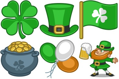 St. Patricks Day Icons