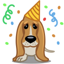 Dog birthday icon
