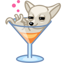 Dog cocktail alkohol icon