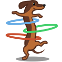 dog hulahoop icon
