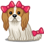 Dog bows icon