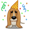 Dog-birthday icon