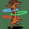 Dog-hulahoop icon