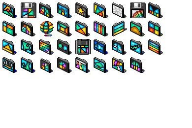 Stained Glass Folders Icons