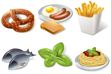 3D Food Icons