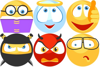 Flat Emoticons Icons