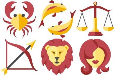 Flat Zodiac Icons