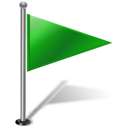 Flag1RightGreen 2 icon