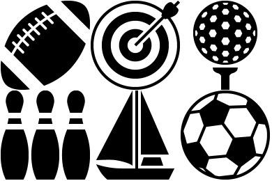 Metro Raster Sport Icons