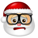 Santa Claus Nerd icon