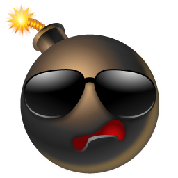 Bomb Cool Icon | Multiple Smileys Iconset | Icons-Land: www.iconarchive.com/show/multiple-smiley-icons-by-icons-land/Bomb...