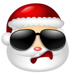 Santa Claus Cool Icon | Multiple Smileys Iconset | Icons-Land: www.iconarchive.com/show/multiple-smiley-icons-by-icons-land/Santa...