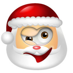 Image result for santa wink png