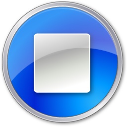 Stop Normal Blue icon