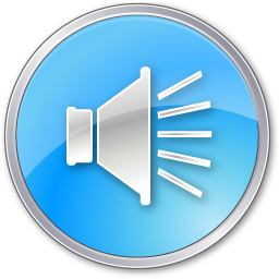 Volume Pressed Blue icon