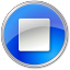 Stop-Normal-Blue icon