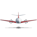 Airplane Back Red icon