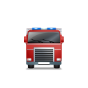 Fire Truck Front Red icon