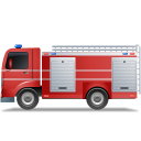 Fire Truck Left Red icon