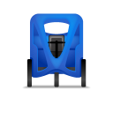 Pedicab Front Blue icon