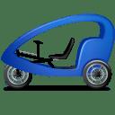 Pedicab-Left-Blue icon