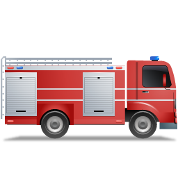 Fire Truck Right Red icon