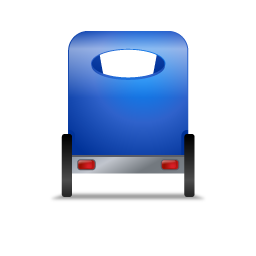 Pedicab Back Blue icon