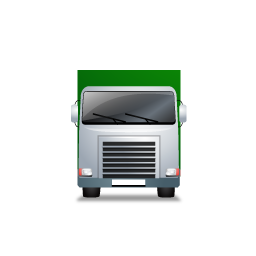 Truck Front Green icon
