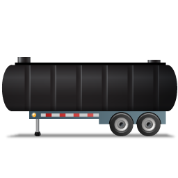 WasteTankerTrailer Left Black icon