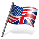 English Language Flag 3 icon