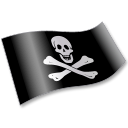 Pirates Jolly Roger Flag 2 icon