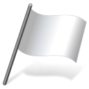 Solid Color White Flag 3 icon