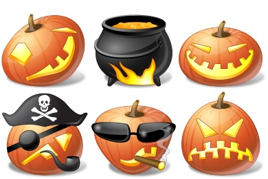 Iconos de Vista de Halloween