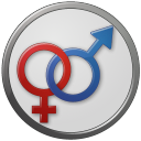 Sex-Male-Female-Circled icon
