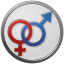 Sex Male Female Circled icon